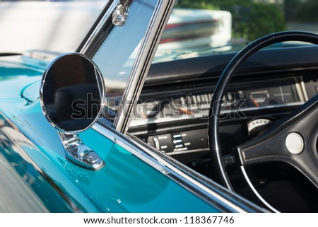 Close up of Classic Car - stock photo