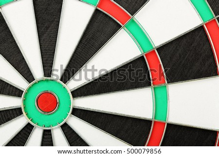 close up of classic dart board