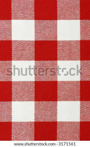 Close-up of classic red picnic cloth - The tablecloth is new, clean and flat - stock photo