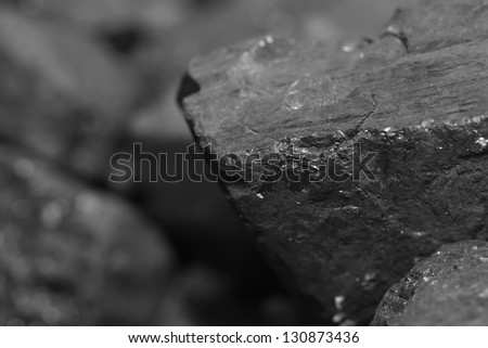 Close up of coal pile - stock photo