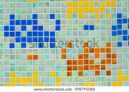 Close up of colorful ceramic tile as a background pattern