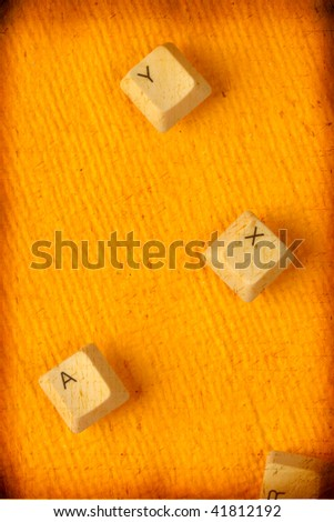 Close up of Computer key on paper - stock photo
