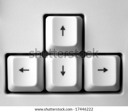 Close up of computer keyboard - stock photo