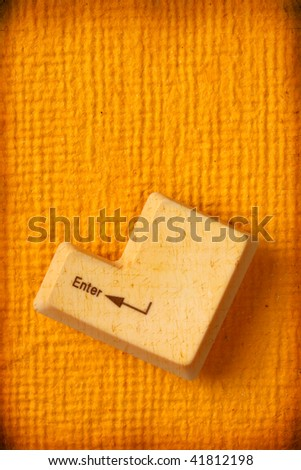 Close up of Computer keys on paper - stock photo