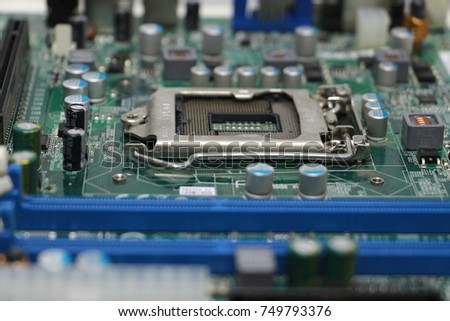 Close-up of computer motherboard component