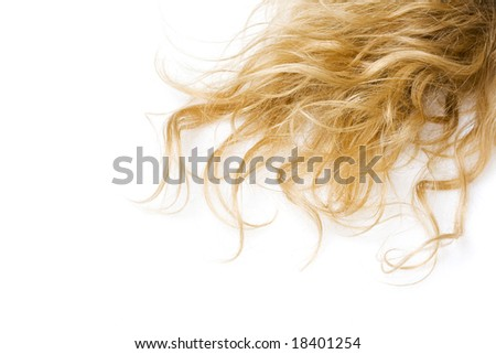 close-up of curly blond hair - stock photo