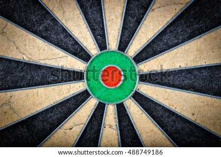 close up of darts board