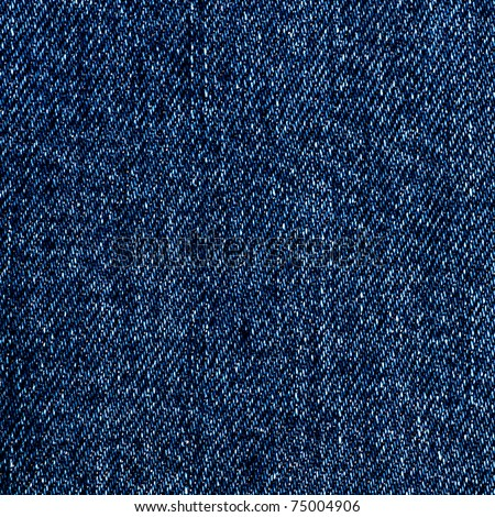 Close-up of denim material, blue background - stock photo