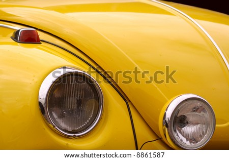 Close-up of details from retro car - stock photo