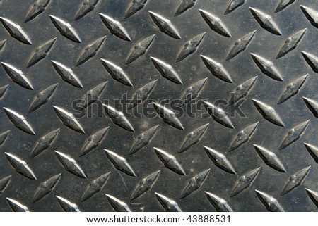 close up of diamond tread steel background texture