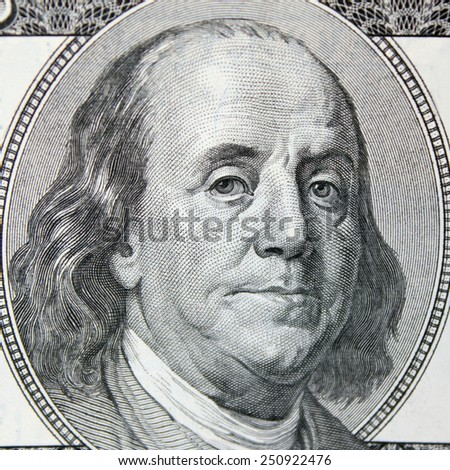 close up of dollar bill (details) - stock photo