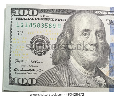 close up of 100 dollars
