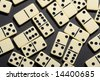Close up of dominoes. Business concept - stock photo