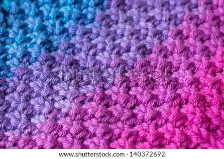 Close Double Moss Stitch Knitting Pattern Stock Photo Royalty Free
