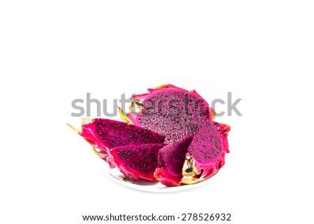 Close-up of dragon fruit cut  - stock photo