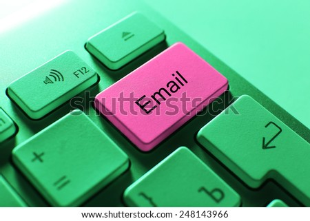 Close up of E-mail keyboard button - stock photo
