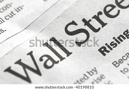 close up of economy title in newspaper