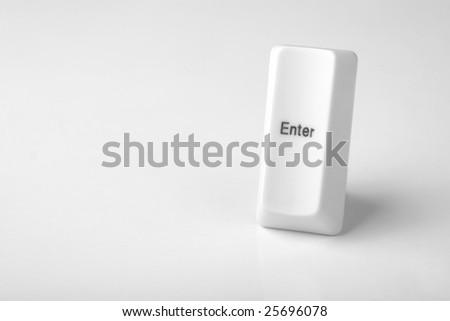 Close up of enter key - stock photo