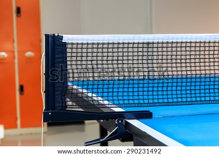 Close up of equipment for Table Tennis with locker backgound. - stock photo