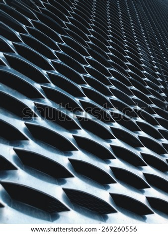close up of expanded metal for Decoration, architecture and building - stock photo