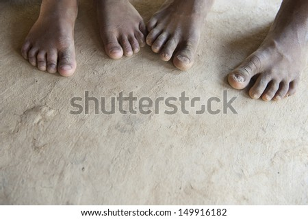 Close up of feet. - stock photo