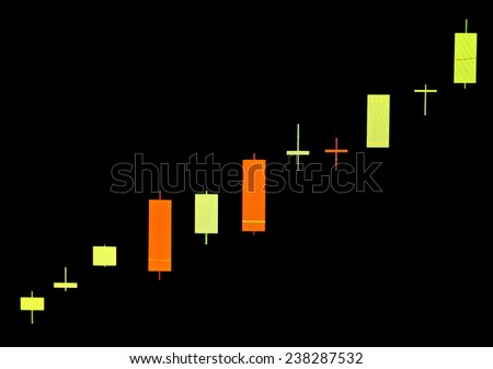 Close up of finance business graph,Trend up. - stock photo