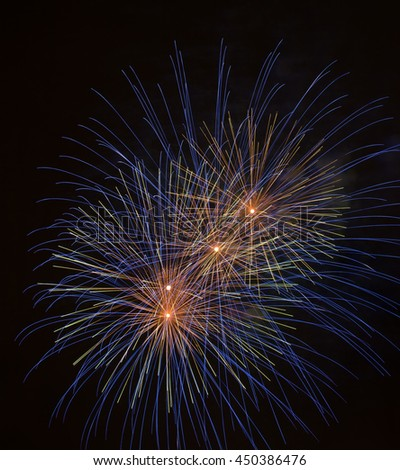 close up of fireworks