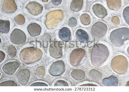 Close up of  floor gravel in garden.