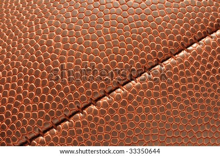 Close-up of Football Texture with seam for a background