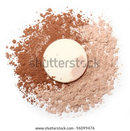 Close up of Foundation powder - stock photo