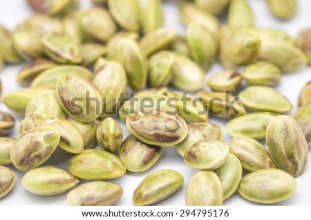 Close up of fresh and raw petal beans or parkia speciosa seeds for stink food background