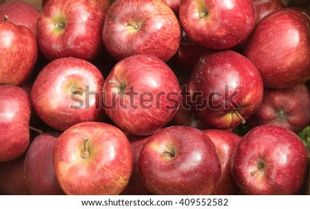 close up of fresh apples texture - stock photo