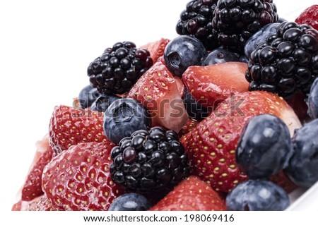 Close up of fresh berries - stock photo