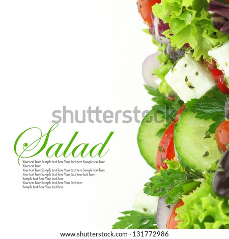Close up of fresh mixed vegetables salad - stock photo