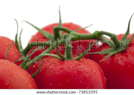 Close-up of fresh tomatoes.
