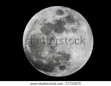 Close-up of full moon - stock photo