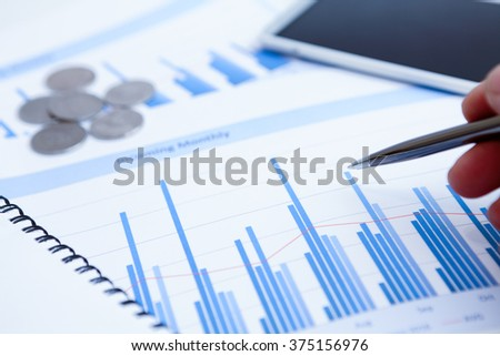 Close-up of graphs and charts analyzed