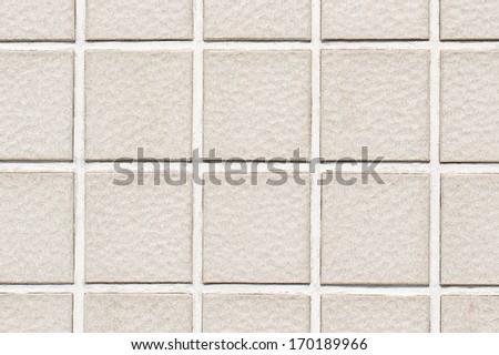 Close up of gray mosaic tiles. - stock photo