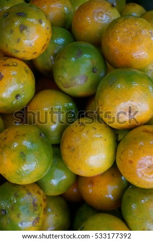 Close up of group of oranges