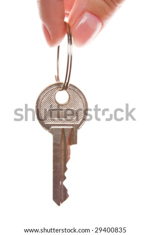 Close-up of hand holding key
