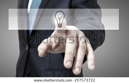 Close up of hand touching icon with finger