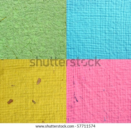 Close up of handmade papers for background - stock photo