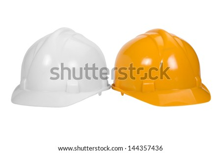 Close-up of hardhats