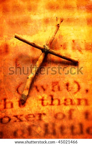 Close up of  holy cross - stock photo