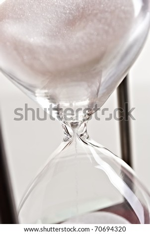 Close up of hourglass - stock photo