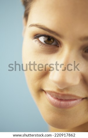 Close up of Indian woman smiling - stock photo
