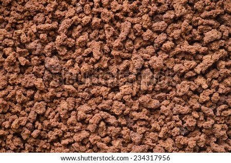Close-up of instant coffee. - stock photo