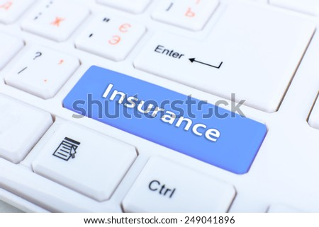 Close up of Insurance keyboard button