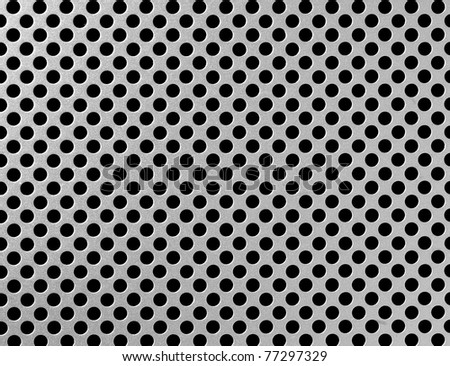 close up of iron grille surface