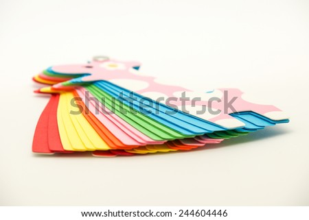 Close up of isolated note paper or notepad for writing, office supplies background  - stock photo
